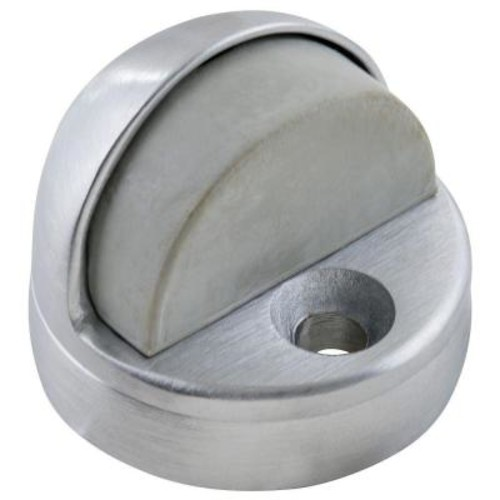 Universal Hardware 1-3/4 in. Satin Chrome Dome Floor Stop with Riser