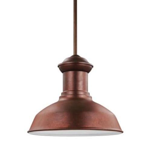 Sea Gull Lighting Fredricksburg Weathered Copper LED Pendant