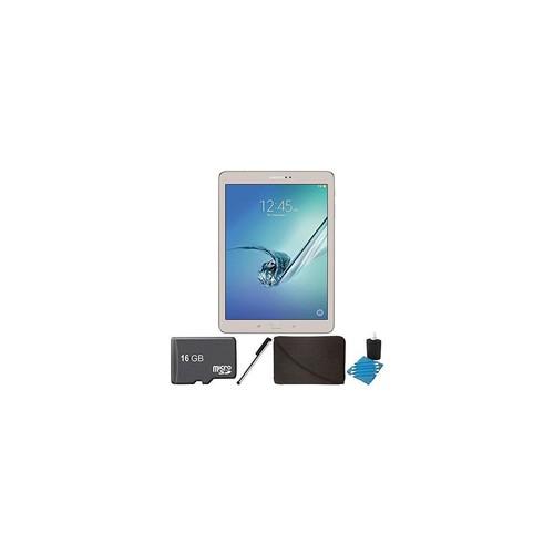 Samsung Galaxy Tab S2 9.7-inch Wi-Fi Tablet (Gold/32GB) SM-T810NZDEXAR 16GB MicroSD Card Bundle includes Galaxy Tab S2,