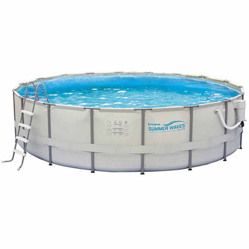 Summer Waves Elite 15-ft Round 48-in Deep Metal Frame Swimming Pool Package