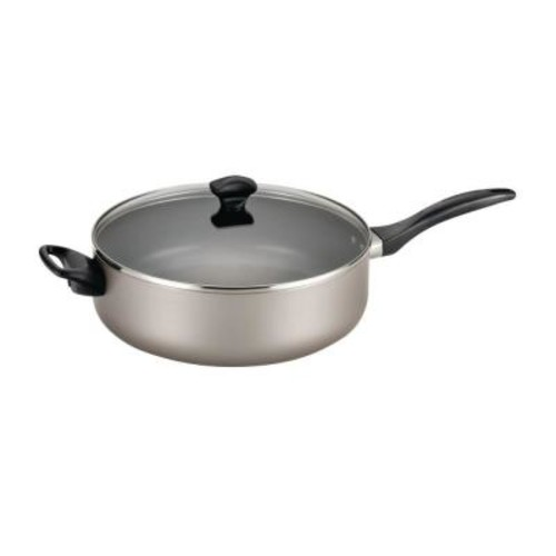 Farberware 6 Qt. Nonstick Aluminum Saute Pan with Lid
