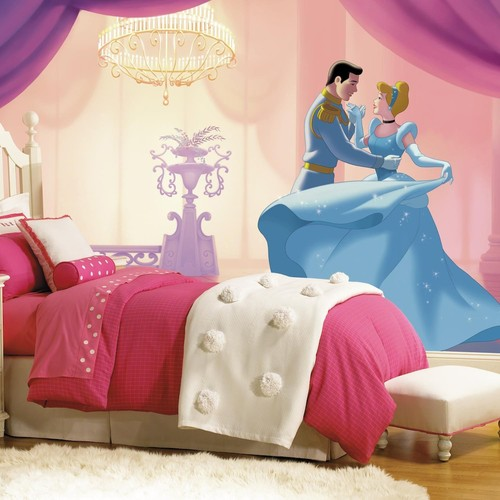 RoomMates 72 in. x 126 in. Disney Princess Cinderella So This Is Love XL Chair Rail 7-Panel Prepasted Mural