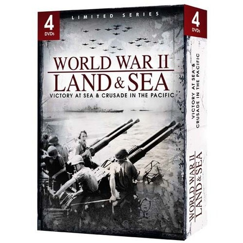 World War II: Land & Sea - Victory at Sea & Crusade in the Pacific [4 Discs] [DVD]