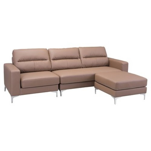 Sectional Sofa Brown - Zuo