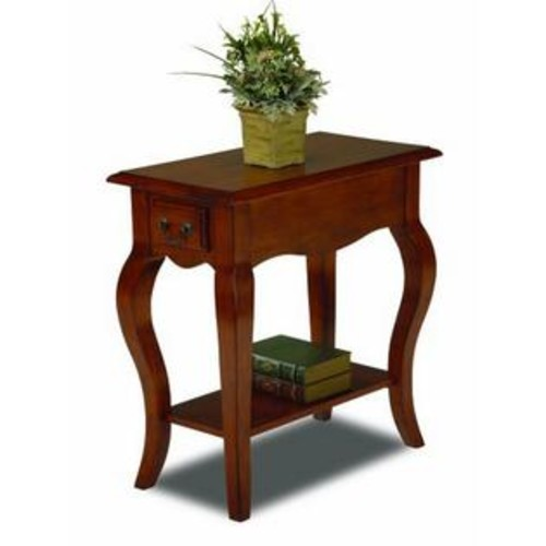 Leick Furniture Chair Side End Table Brown Cherry Finish 9018-BR