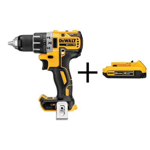 DEWALT 20-Volt MAX XR Lithium-Ion Cordless 1/2 in. Compact Brushless Drill/Driver (Tool-Only) with Bonus XR Battery 2Ah