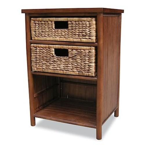 Heather Ann 2 Drawer Cabinet; Brown