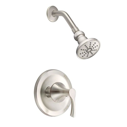 Danze Antioch 1-Handle Shower Faucet Trim Kit in Brushed Nickel (Valve Not Included)