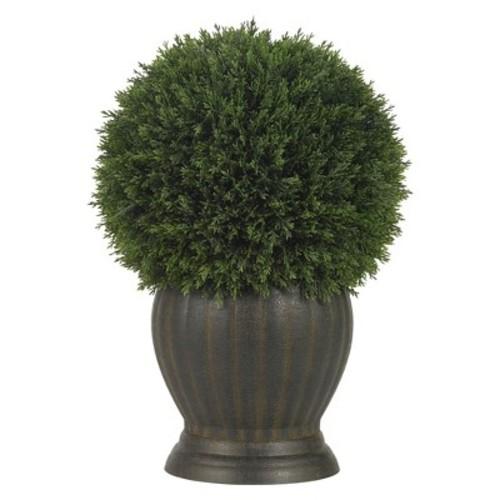 Nearly Natural Cedar Ball Topiary Silk Plant