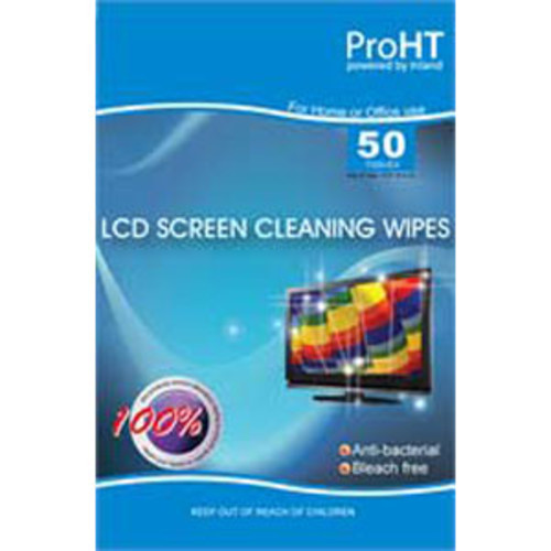 Inland LCD Screen Cleaning Wipe Pack of 50