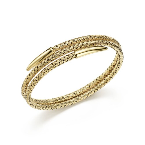 14K Yellow Gold Woven Wrap Bangle - 100% Exclusive