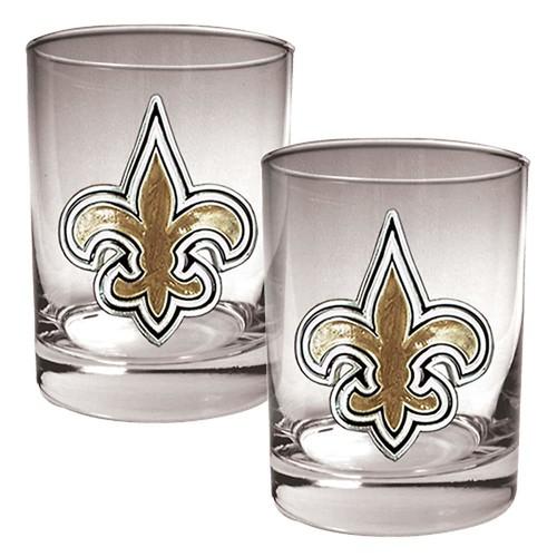 Orleans Saints 2-pc. Rocks Glass Set