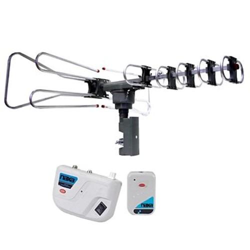 Naxa High Powered Amplified Motorized Outdoor Antenna For HDTV/ATSC Digital Television