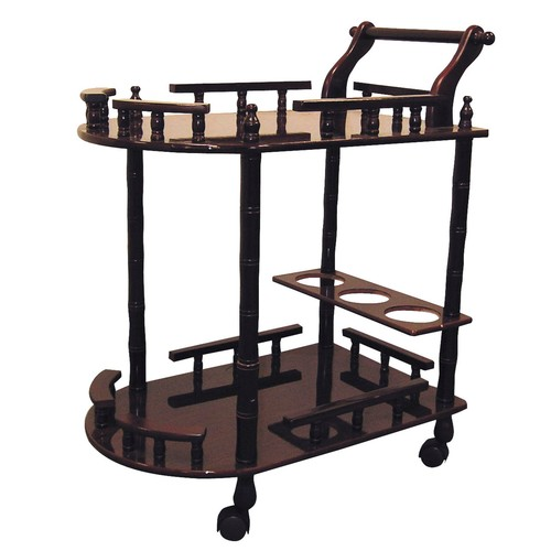 Ore Wood 2-Tier Wine Table - Cherry Finish