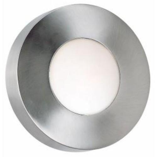 Kenroy Home Burst Large 1-Light Polished Aluminum Round Sconce/Flushmount