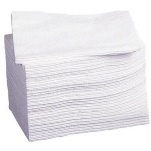 Medline Deluxe Dry Disposable Wash Cloths, White, 500 Count