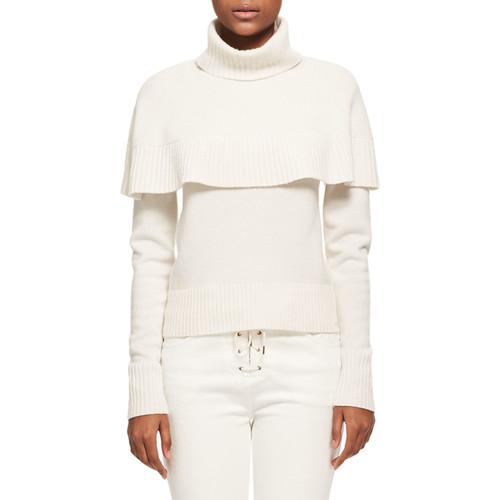 CHLOE Cashmere Capelet Turtleneck Sweater