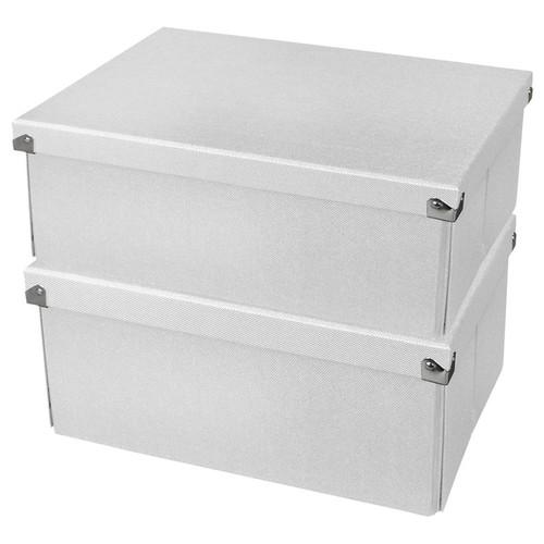 Samsill Pop n' Store Medium Document Box White 2 Pack - 12.75
