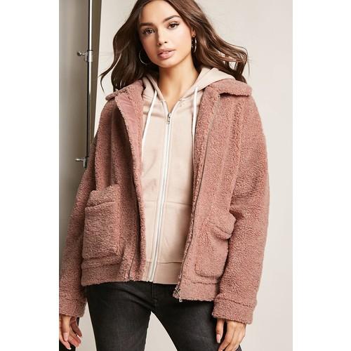 Faux Shearling Zip-Front Jacket