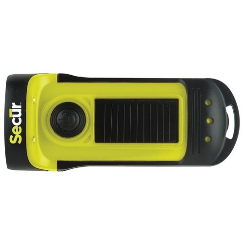 SECUR - Waterproof Solar LED Flashlight - Green/Black