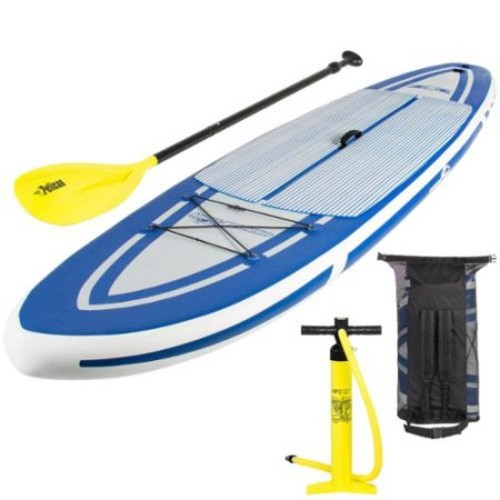 Best Choice Products 10'5 Inflatable Stand Up Paddle Board Package Set Includes Many Accessories