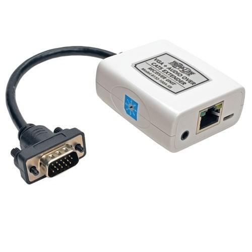 TrippLite VGA & Audio over Cat5 Extender Receiver EDID USB 300ft Range (B132-100A-SR)