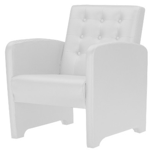 Jazz Faux Leather Upholstered Club Chair White - Baxton Studio
