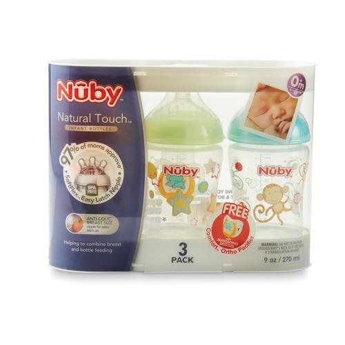 Nuby 3-Pack Infant Bottles & Pacifier