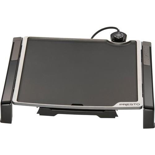 Presto - Tilt-n-Fold 15-inch Electric Griddle - Black