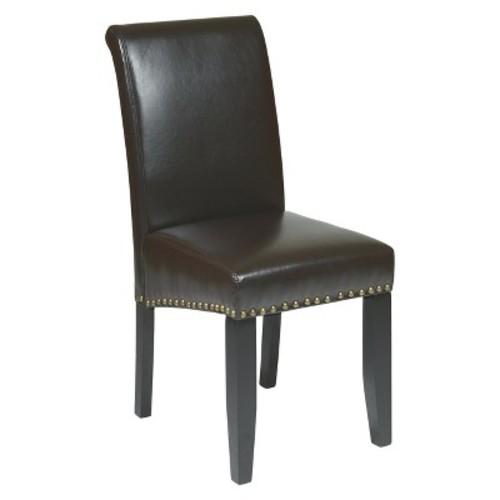 Parsons Nailhead Trim Dining Chair Wood/Espresso - Office Star