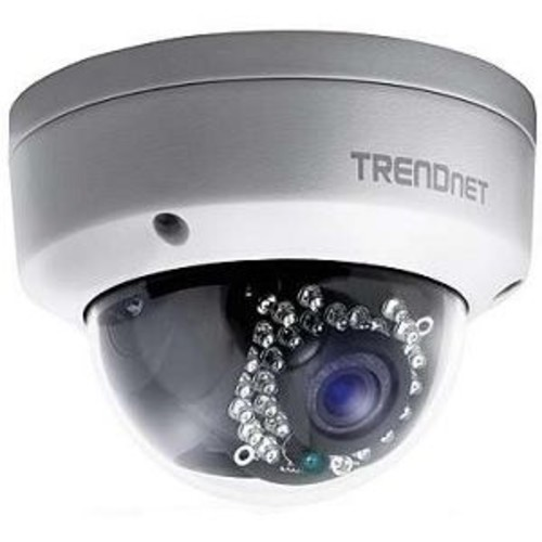 TRENDnet Outdoor 1.3 MP HD PoE Dome IR Network Camera - IP66 Weather Rated, Night Vision up to 82ft, Vandal Resistant Housing, 1.3MP HD, H.264 (1280 x 960) up to 30 fps - TV-IP321PI