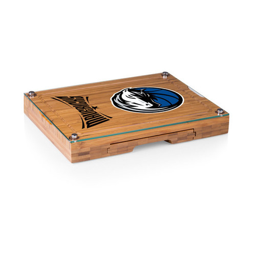 Picnic Time Dallas Mavericks Concerto Bamboo Cutting Board/Tray and Cheese Tools Set
