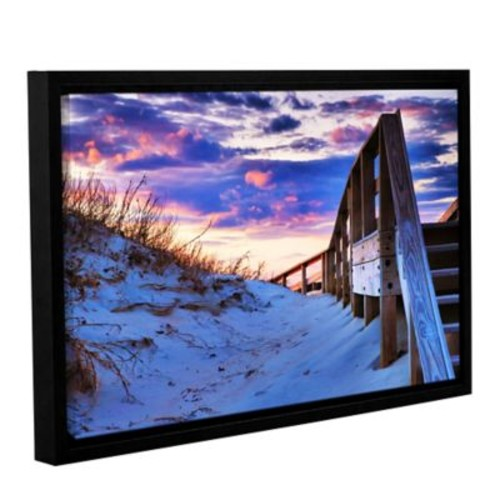 ArtWall Sunset At Ocracoke by Steve Ainsworth Framed Photographic Print; 24'' H x 36'' W