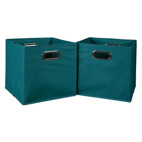 Niche Cubo 12 in. x 12 in. Teal Foldable Fabric Bins (2-Pack)