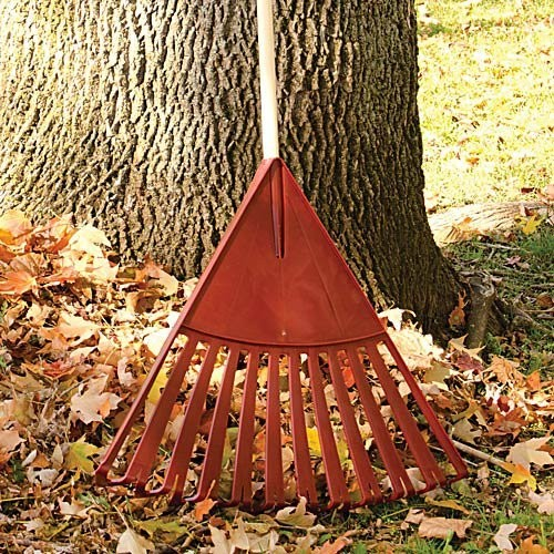 Ames True Temper Clog-free Poly Leaf Rake - 24 Inches Wide, 48 Inch Handle