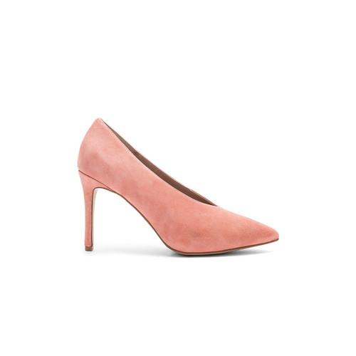 Steven Aiken Heel in Pink Suede