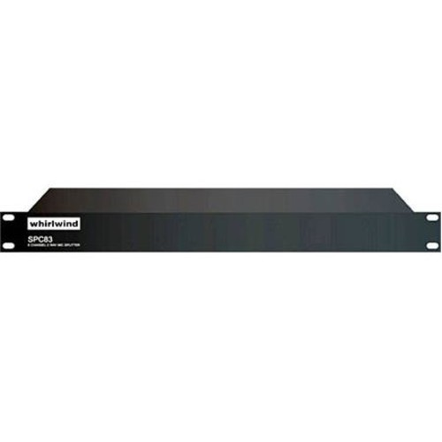 Whirlwind SPC83L 8 Channel Rackmount Line Level Splitter with 1 Direct