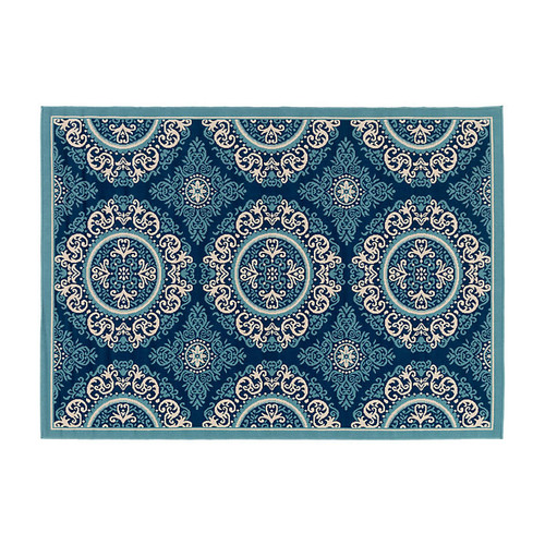 Welby Outdoor Rug, Blue/Navy