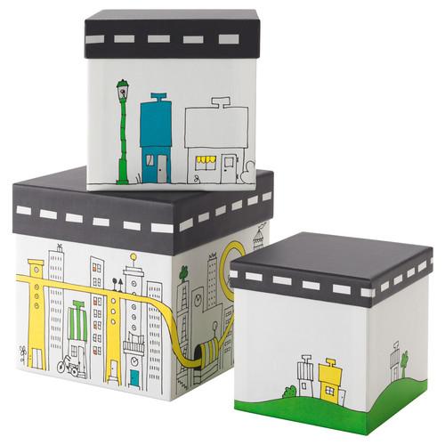 FLYTTBAR Box with lid