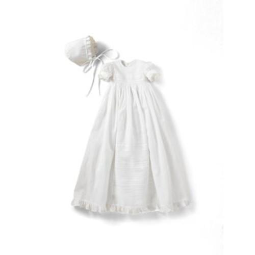 Infant's Two-Piece Christening Gown & Bonnet Set