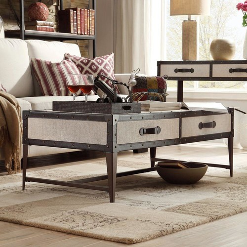 HomeSullivan Linden Brown Coffee Table