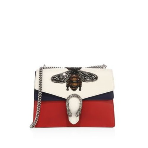 GUCCI Medium Dionysus Bee-Embroidered Leather Shoulder Bag