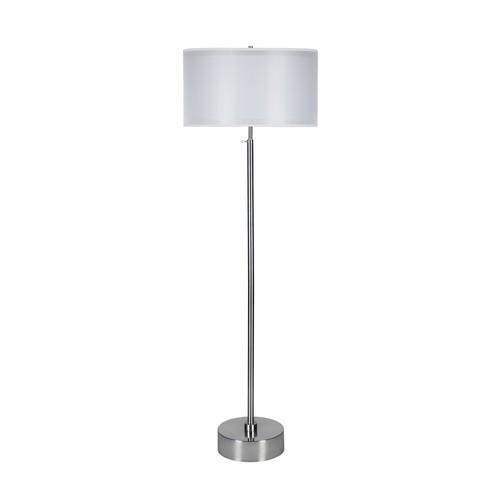 Doubles Floor Lamp [Shade color : Silver Organza]