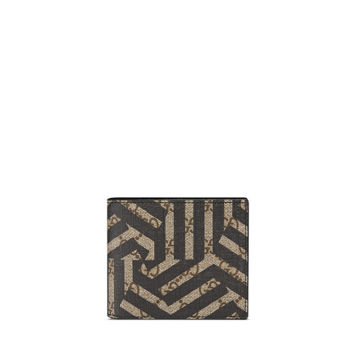 GUCCI Gg Caleido Bi-Fold Wallet, Black/Beige