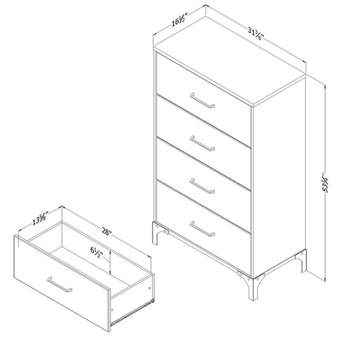 Valet 4 Drawer Chest