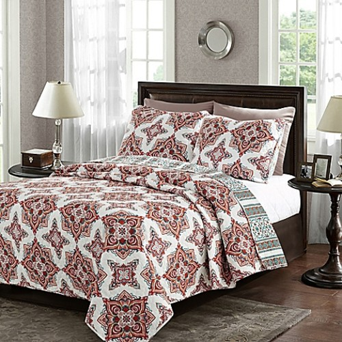 Brittany Full/Queen Reversible Quilt Set