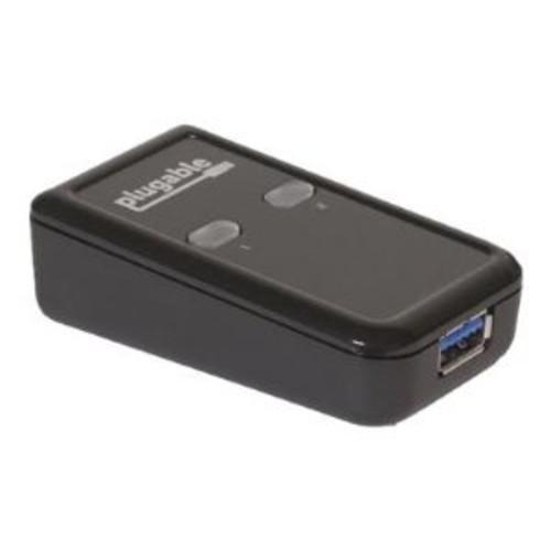 Plugable - USB peripheral sharing switch - 2 x SuperSpeed USB 3.0 - desktop