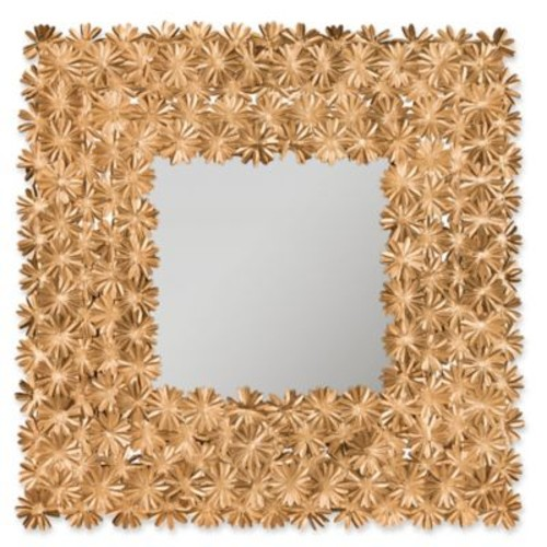 Safavieh Crown Daisy 1-Inch x 25-Inch Square Mirror in Antique G