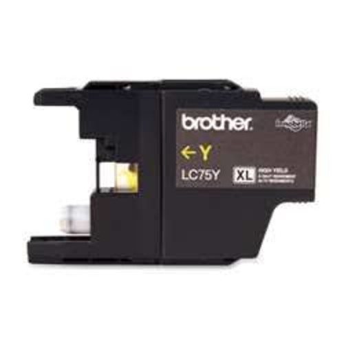 Brother BRTLC75Y LC75Y (LC-75Y) High-Yield Ink 600 Page-Yield Yellow