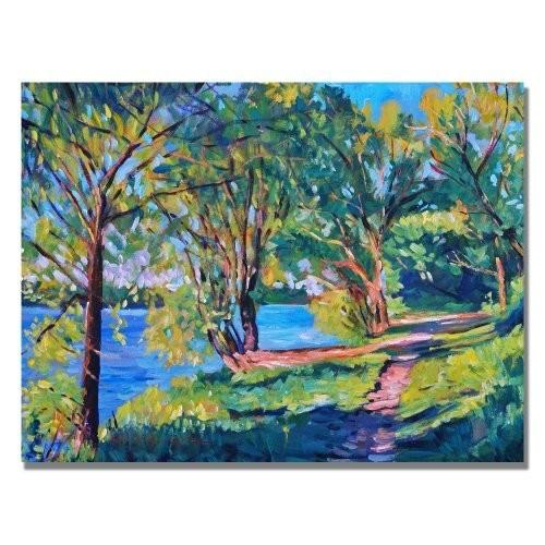 Summers Lake by David Lloyd Glover, 18x24-Inch Canvas Wall Art [18 by 24-Inch]
